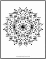 Coloring Chain Flower Mandala sketch template