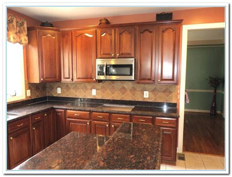 granite countertops with brown cabinets tan brown granite countertops home and cabinet reviews