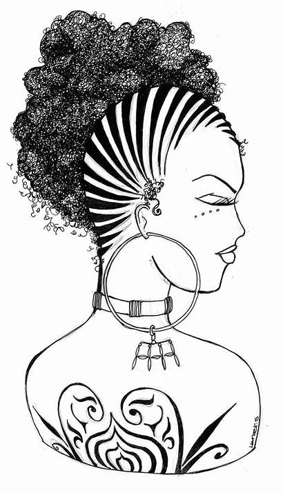 Coloring Hair Pages Afro Sheets Natural Hortense