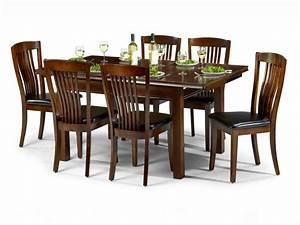 Julian Bowen Canterbury 120cm Mahogany Dining Table and 6