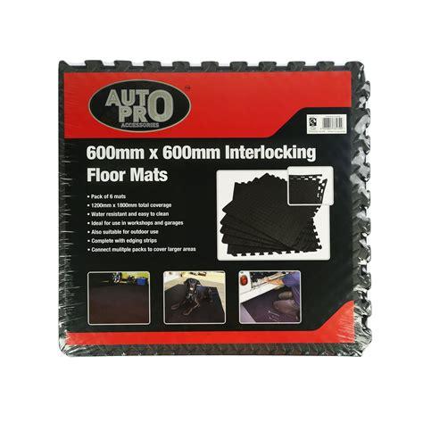 auto pro interlocking eva foam black floor mats pack