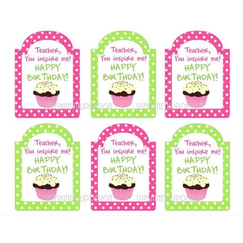 printable teacher birthday gift tags happy birthday