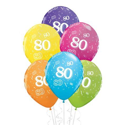 deco anniversaire 80 ans ballons anniversaire 80 ans x6 mister