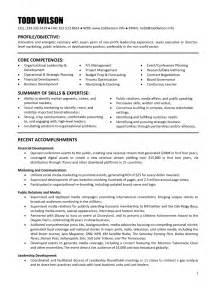 non profit resume objective executive director non profit resume sles of resumes
