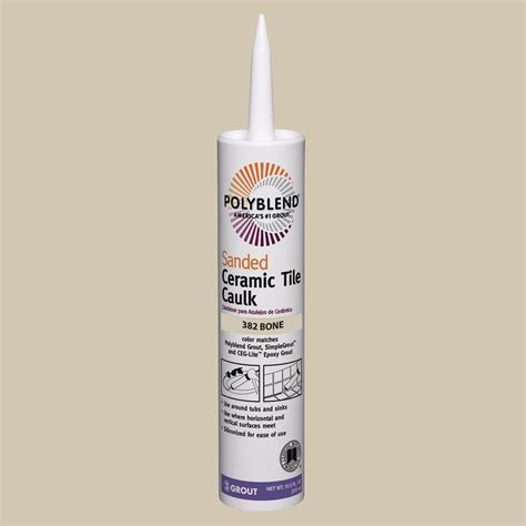 Polyblend Ceramic Tile Caulk by Custom Building Products Commercial 382 Bone 10 1 Oz