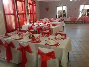 Décoration Mariage Rouge Et Blanc : decoration mariage blanc et rouge ~ Melissatoandfro.com Idées de Décoration