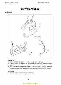 Kenmore 385 15208400 Sewing Machine Service Manual