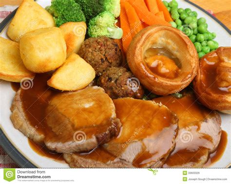 sunday meals roast pork sunday dinner stock image image of stuffing 33603329