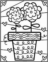 Coloring Flower Britto Printable Pond Boyama Sayfaları Para Club Romero Colouring Heart Crianças Pot Fromthepond Colorear Arte Dibujos Happy çiçek sketch template