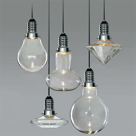 modern vintage industrial glass led retro ceiling light