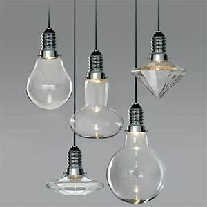 Pendant lighting bulbs : Modern vintage industrial glass led retro ceiling light