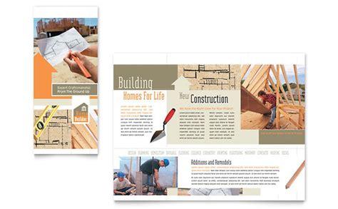 Construction Brochure Design Pdf by Home Building Carpentry Brochure Template Design