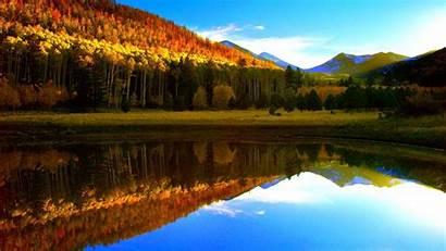 Fall Mountain Desktop Autumn Lake Tahoe Reflection