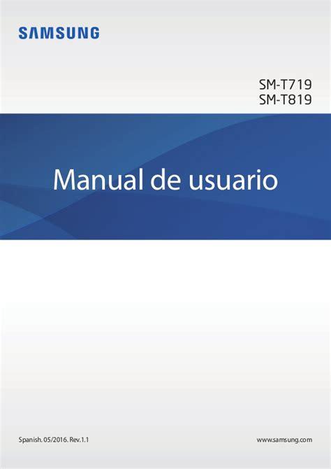 """Manual de usuario de la Samsung Galaxy Tab S2 4G 9 7"""" T819"""