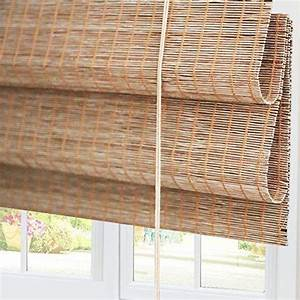 Bamboo, Roman, Window, Shades, Blinds, Light, Filtering, Uv, Protection, Shades, With, Valance, 20, U2033, W, X, 36