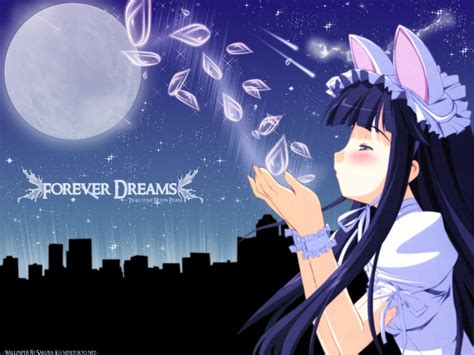Moon Phase Anime Wallpaper - white wings