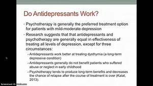 Psychopharmacological, Treatment, Of, Depression, U3091457