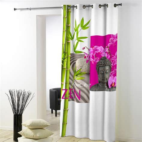 rideaux zen pas cher rideau 140x260cm douceur zen