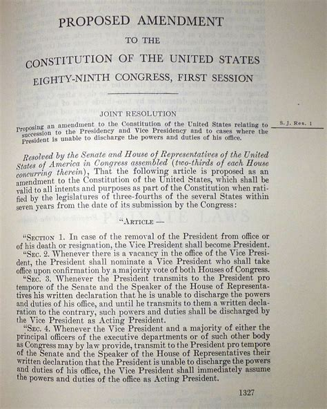 United States Constitution And Citizenship Day 25th Amendment