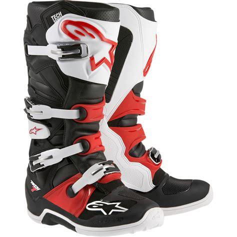 motocross boot alpinestars 2017 mx tech 7 dirt bike white black