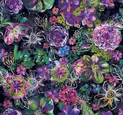 Fiorella Eclipse Floral Midnight Fabric Rjr Digiprint