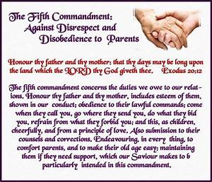The Fifth Commandment, Against Disrespect and Disobedience ...