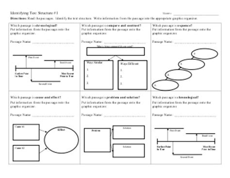 identifying text structure worksheet answers worksheets