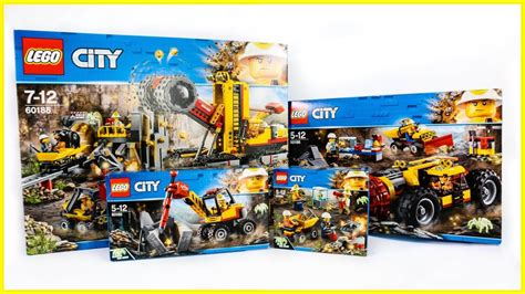 Lego Set by All Lego City Mining Sets Compilation Speed Build