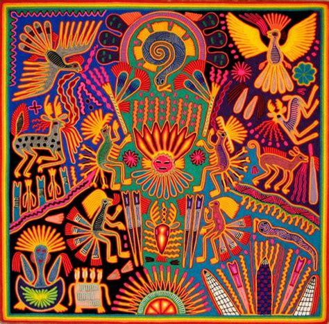Arte Huichol - nierikas | Peruvian art, Yarn painting ...