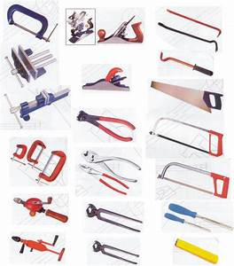 Woodworking tools with names