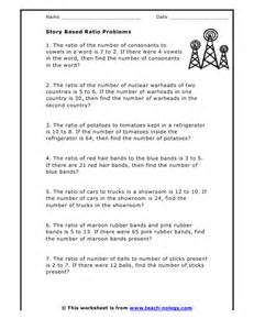 unit rate math worksheets story based ratio problems
