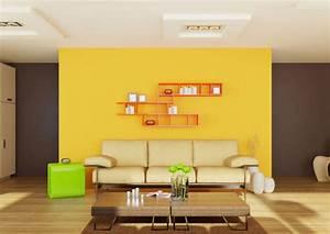 Graue Wandfarbe Mischen : interior decoration for yellow living room home combo ~ Markanthonyermac.com Haus und Dekorationen