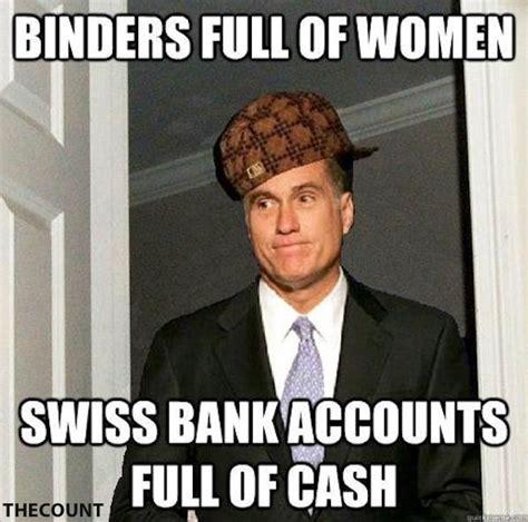 Binder Meme - mitt romney quot binders full of women quot memes thecount com
