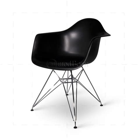 eames style dining dar arm chair black replica