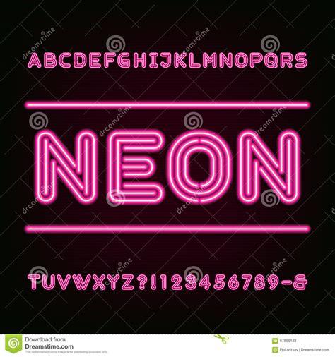 neon light letters font neon light alphabet font stock vector image of symbol