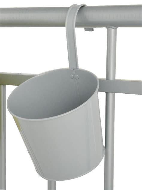 pot de fleur balcon 224 suspendre gris