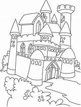 Castle Coloring Disneyland Printable Getcolorings Colorings Castl sketch template