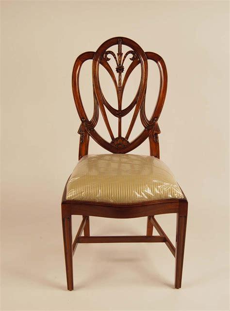 mahogany shield back dining room chairs sweetheart ebay