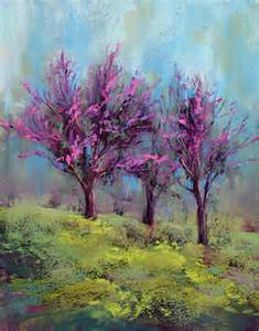 painting my world redbud tree painting