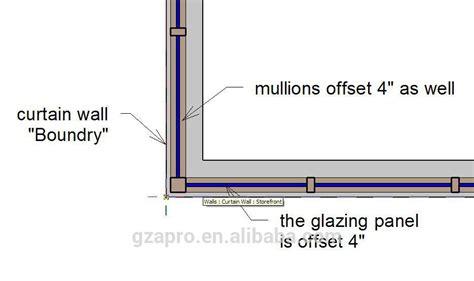 multi track design glass curtain wall price facade panel