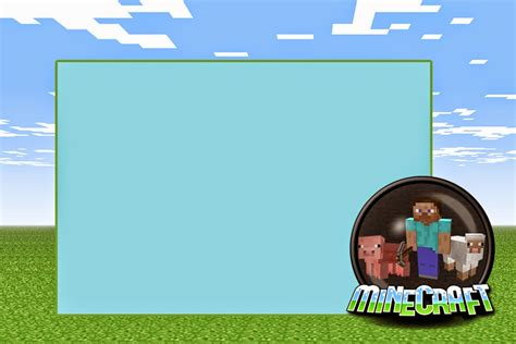 minecraft free printable invitations oh my in english