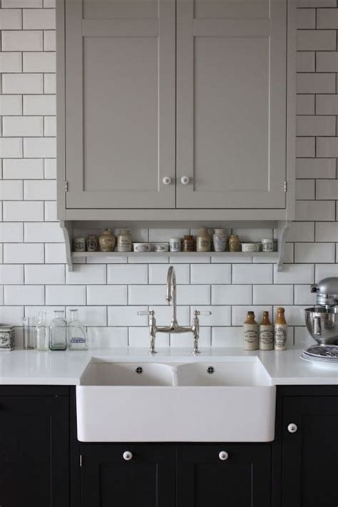 kitchen white tiles grey grout contrast grout grout subway tiles white kitchen 8731