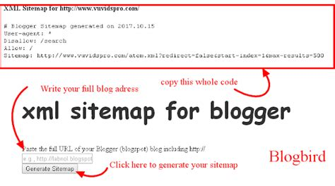 How Add Blogger Site Map All Search Engins Blog