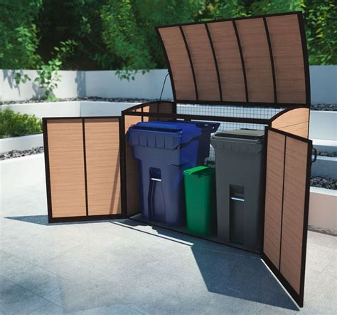 outdoor garbage storage 149 best images about outdoor storage sheds on 1292