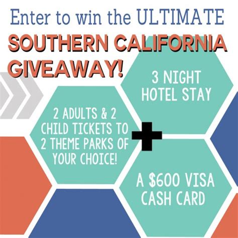 Decor Ultimate Getaway Sweepstakes by The Ultimate Southern California Family Vacation Giveaway