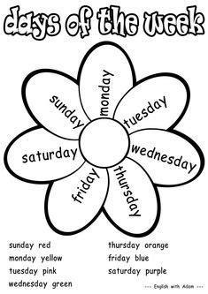 days   week images preschool activities