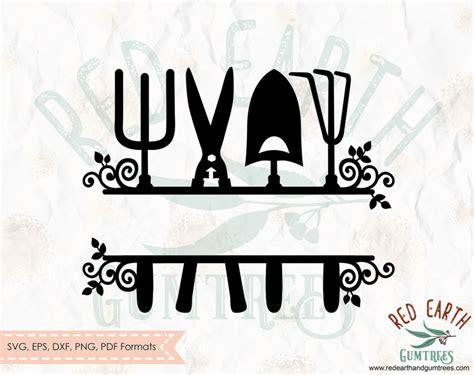 garden split framesplit frame monogram garden frame svg garden tools svgfarm tools svg