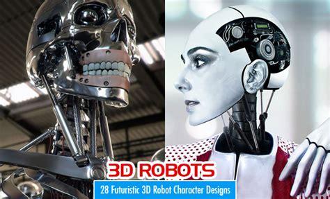 robot character designs  futuristic  models