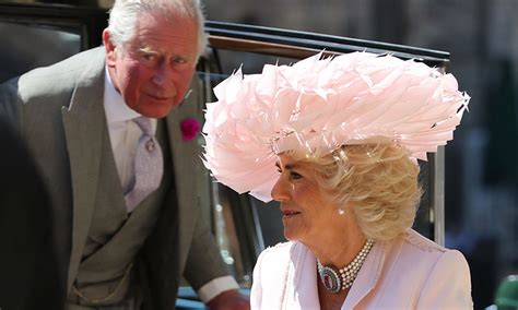 camilla parker bowles stunned   pink philip treacy hat