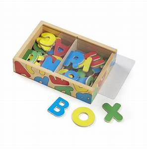 Wooden letter alphabet magnets melissa doug for Magnetic letters for 1 year old
